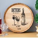 Family Winery Wood Barrel Sign