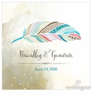 Feather Whimsy Personalized Cake Topper