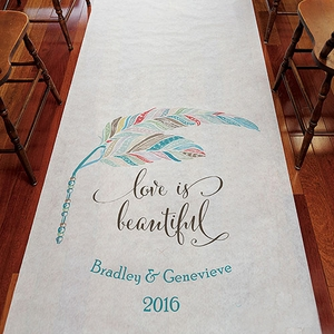 Feather Whimsy Personalized Runner