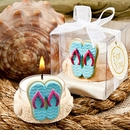 Flipflop Beach Themed Candle Favor