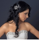 Floral Vine Comb with Ivory Pearl & Rhinestone Accents