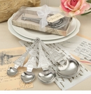 From Paris With Love Set Of Four Designer Heart Shaped Measuring Spoons