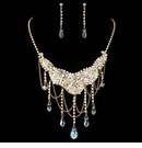 Gold AB & Light Topaz Crystal Jewelry Set