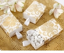 Gold Damask Favor Box (Quanity of 24)