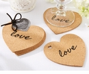 Heart Cork Coasters (Quanity of 4)