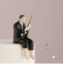 Hooked on Love Groom Cake Topper