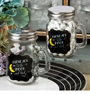 I Love You To The Moon And Back Glass Mason Jar