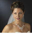 Ivory Pearls & Clear Rhinestone Bridal Set