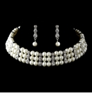 Luminous Ivory Pearls and Dazzling Rhinestones Set