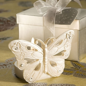 Lustrous Butterfly Design Candle Holder Favors
