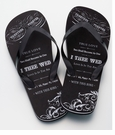 Mens True Love Flip Flops