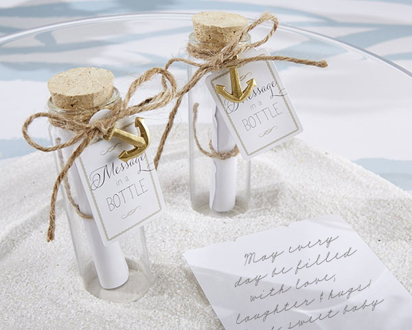 Wedding Guest Gift Message : Message in a Bottle Glass Favor BottleUnique Wedding Favors