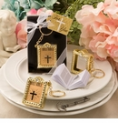 Miniature Paper Gold Bible Keychain