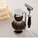 Modern Initials Shaving Set - Badger Hair Brush and Razor Set