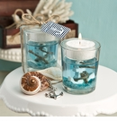 Nautical Themed Gel Candle Holder With Anchor Design