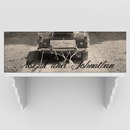 Our Personalized Black & White Just Married Canvas Print
