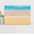 Personalized Caribbean Sea Couples Canvas Print