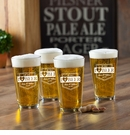 Personalized I Love Beer Pub Glass Set