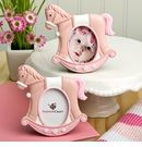 Pink Rocking Horse Place Card Photo Frame