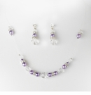 Purple Clear Illusion Jewlery Set