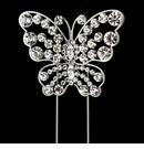 Rhinestone Covered Butterfly Cake Topper