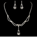 Rhinestone Drape Necklace & Earrings