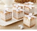 Rustic & Lace Kraft Favor Box (Quanity of 24)