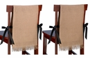 Set of 2 Burlap Chair Covers