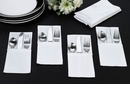 Set of 4 White Silverware Holders - Blank