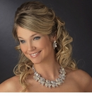 Silver CZ & Pearl Necklace Earring Set