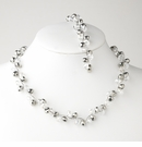 Silver Hematite Necklace Bracelet Set