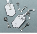 Silver Key Tag Set for Guest Signing (Set of 24)