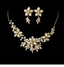 Stunning Gold Ivory Jewelry Set