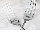 True Love Silver-Plated Forks -Set of 2