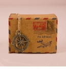 Vintage Inspired Airmail Favor Box (Pack of 10)