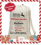 Personalized Canvas Santa Sack - Jumbo Size