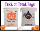 Trick or Treat Bags (Personalization Included)