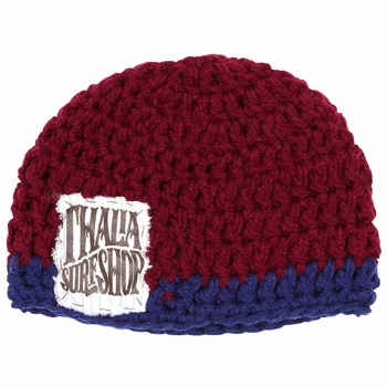 Thalia Surf - Whip Cream Patch - Hand Knitted Beanie - Click to enlarge