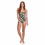 The Critical Slide Society - Crossed Onesie Floral - Women's Bathingsuit