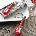 Classic Red Electric Guitar Design Key Chain Party Favors