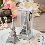 Eiffel Tower Chrome Metal Ring Holder Favors