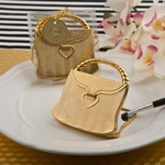 Elegant Reflections Collection Gold Purse Compact Mirror