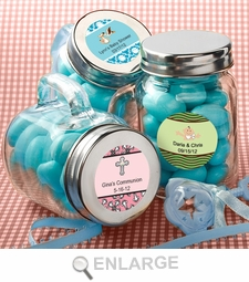 Glass Mason Jars Christening/Baby Shower Favors Personalized