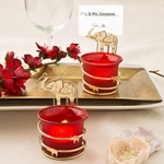 India Themed Candle Votive Holder with Placecard or Photo Holder