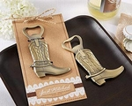 Just Hitched Cowboy Boot Bottle Opener Favors