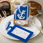 Nautical Themed Anchor Luggage Tags Favors