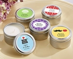 Personalized Candle Tin Wedding Favors