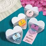 Personalized Heart Shaped Memo Clip Favors for Wedding