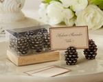 Pinecone Place Card Photo Holder Favors Set/6