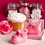 Pink Baby Shower Favors
